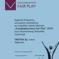 TROTON лауреат премии «Business Fair Play» 2018