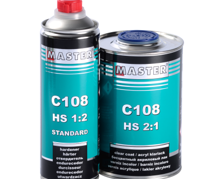 (English) New! Acrylic Clear Coat MASTER C108 HS 2:1