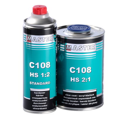 New! Acrylic Clear Coat MASTER C108 HS 2:1